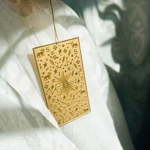 Authentic CHANEL gold metal bookmark STUNNING! New